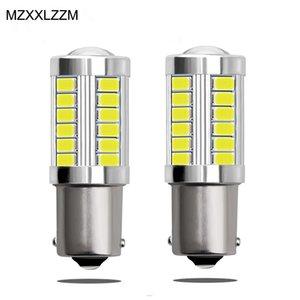 2pcs 1156 7506 BA15S P21W 5630 5730 LED Car Brake Lights Turn Signal Daytime Running Signal Light 12V Auto Reverse Lamp Yellow