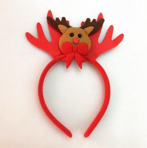 هدايا عيد الميلاد الكرتون الشعر كليب LED بابا نويل ثلج إلك المشابك انتلرز شكل فرق دبوس الشعر العصابة headress قبعة الإضاءة LY9163