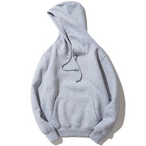Moda para hombre Pullover Hooides gruesa ropa de invierno con capucha de los hombres de Hip Hop de Calle Polo Camisa Hombre ocasional con capucha Ropa T200917