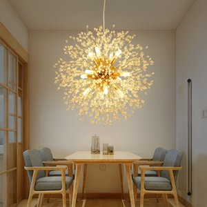 LED Postmodern chandelier Crystal Iron living room suspension luminaires fixtures snowflake bedroom suspended lamp