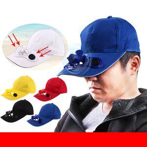 Camping Hiking Peaked Cap with Solar Powered Fan Baseball Hat Cooling Fan Cap summer hats for women chapeau femme