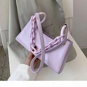 PU Leather Small Armpit Bags for Women Thick Candy Color Chain Female Shoulder Handbags New Summer Ladies' Travel Crossbody Bags
