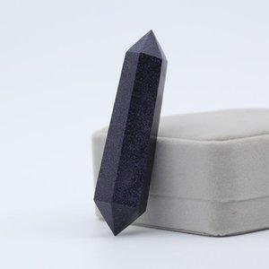 Blue Crystal Shipping Goldstone Neues Reiki 55g Quarz-freie Healing Punkt Gold-Xhhair Punkte Energie Natursteine Sand Chakra Großhandel GSGD