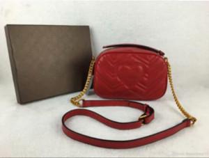 2020 sıcak satış Kadınlar Marmont Messenger Çanta Uzun Zincirli PU Deri Tasarımcılar Omuz Çantaları Antik Altın Zincir Bel Çanta Totes Hobos