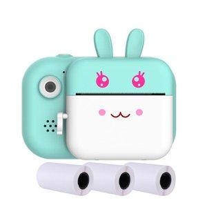 LCD cadeau écran imprimante photo portable Fill Light Photographie Mini 1080P HD étanche avant arrière enfants caméra avec carte mémoire