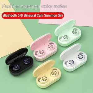 Macaron Tws 5 .0 Bluetooth Wireless Earphone Touch Handsfree Stereo Wireless Bluetooth Headphone Earbuds With Mic Charging Box