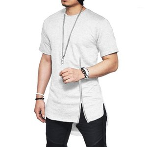 Tops Hombres Split Zipper Tees Clothing Mens Summer 19ss Tshirts Designer Hiphop O-neck Short Sleeved