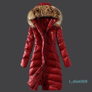 Female Jacket Large Real Raccoon Fur Winter Jacket Women Warm Thicken Hood Winter Coat Womens Cotton Down Parka Plu t09
