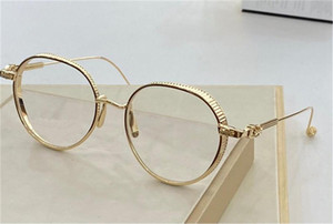 تصميم الأزياء الجديدة نظارات VAGASOREASS الرجعية الجولة النقي التيتانيوم الإطار عدسة شفافة بسيطة أزياء النظارات البصرية سلسلة أعلى جودة