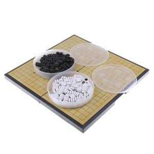 Китайский Настольная игра Weiqi Шашки Складной стол Magnetic Go Chess Game Set
