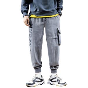 2020 Autumn Mens Harem Pants Streetwear Jogger Trousers Men Hip Hop Sweatpants Trousers Fashion Letter Printed Men's Clothing