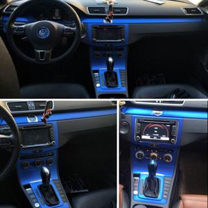 Para Volkswagen VW CC / Passat B7 Interior Central de Controle Central Painel Punho 5D Carbono Fibra Adesivos Decalques Car Styling Accessorie
