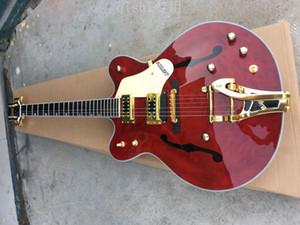 Benutzerdefinierte Gre G6122-1962 Brown Chet Atkins Land Jazz Semi Hollow Body Brown E-Gitarre Bigs Tremolo-Brücke Gold-Hardware-Drop Shipping