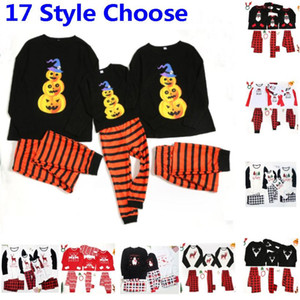 New Halloween Christmas Pyjamas For Family Set Clothes New Xmas Sleepwear Nightwear Tops And Pants Parent Child Outfit Party HH9-3324