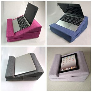 노트북 컴퓨터 쿠션, 휴대용 노트북, 모조 리넨 태블릿 컴퓨터, 멀티 앵글 소프트 베개 쿠션 베개 브라켓