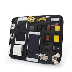 Портативный многофункциональный портативный косметический цифровой повязку для хранения сумки для хранения упругой поездки на доске для путешествий.