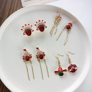 National style creative Beijing Opera China trend ethnic earrings fashion jewelry women earrings new design girl female gifts