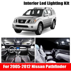 12x White Auto Car LED Light Bulbs Interior Kit For 2005-2012 Pathfinder 12V Led Map Dome License Plate Lamp Car Styling