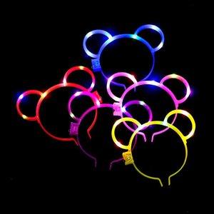 brinquedos Kid brinquedo hairpin dos desenhos animados LED Multicolor grampos de cabelo vender 2.020 crianças orelha de coelho grampos de cabelo dom do filho