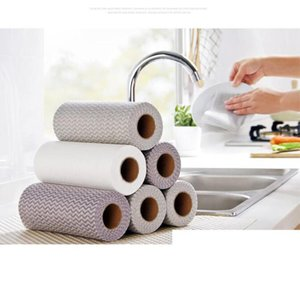 50pcs set Disposable No-wash Rags Cleaning Cloths Non-greasy Dishcloth Water Absorbent Thickening Non-woven Household Cleaning Tools HA1278