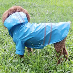 Su geçirmez pet giysi köpek Köpekler Kediler giyim için PU Reflekte yağmurluk kapüşonlu Açık Köpek Pet Yağmurluk S-XL ceket giysi