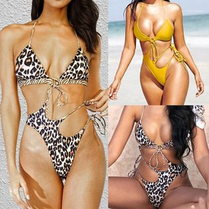 Color Summer Bikinis Sexy With Belt Hollow Out Womens Designer One Piece Of Bikini Leopard Solid