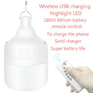 camping light tent chandelier barbecue light remote control LED emergency charging wireless waterproof night market lamp VNam#