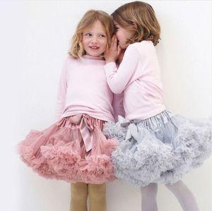 1-10Y Girls Tutu Skirt Ballerina Pettiskirt Layer Fluffy Children Ballet Skirts For Party Dance Princess Girl Tulle Miniskirt