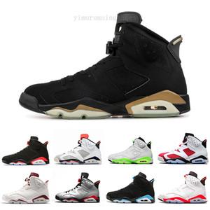 New Bred Men 6 6s Basketball Shoes Tinker UNC Black Cat White Infrared Red Carmine Toro Mens Designer Trainer Sport Sneaker Size 41-47 KGF96