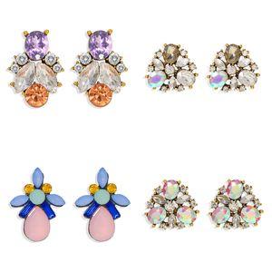 Dvacaman strass brincos de cristal Moda Brincos para festa de casamento das mulheres Declaração elegante Meninas do presente Jóias