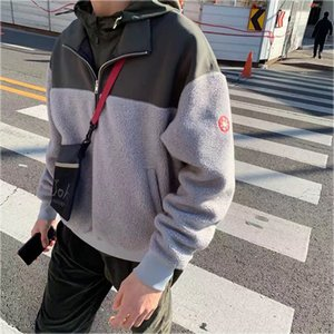 Autumn Winter CAVEMPT Sweatshirts Stand-up Collar Heavy Fleece Zip Up Coat Best Quality Hairy CAV EMPT C.E CE Hoodie Pullover T200914