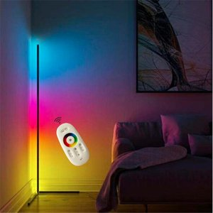 Modern RGB LED Corner Floor Lamp Bedroom Bedside Living Room Atmosphere Colorful Standing Lamp Home Decor Floor Lights Lighting