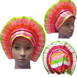 Use 016 Sego Headtie Splicing African Aso Oke Sego Headtie High Quality Nigerian Traditional Wedding Multicolor Lace Fabric Warp