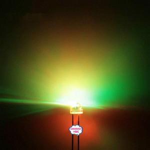 Оптово-Бесплатная доставка 1000шт 5мм (4.8mm) Соломенная шляпка LED RGB свет цвет / Быстрая автоматическая вспышка / 5MM Цвет RGB LED светодиодные Y9Rx #