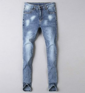Men's Classic Jeans Pocket Long Pants Autumn High End Streetwear Striped Triangle Eagle Tags Mens Denim Pants Asian Plus Size