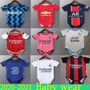 2020 2021 أحدث طفل إسبانيا إيطاليا ريال مدريد MBAPPE طفل لكرة القدم جيرسي 20 21 6-18 طفل أشهر فوتبول لكرة القدم القدم قميص