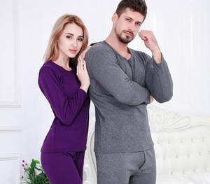 Sous-vêtements thermiques d'hiver Hommes Femmes épais velours plus chaud Long Johns pour Couples Vêtements Pantalon Et Top Costume Thermal Men55
