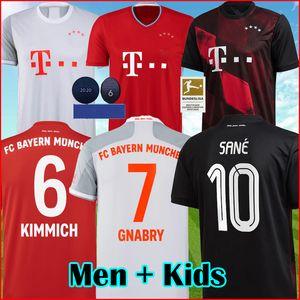 Поклонники игрок 6 чашек 2021 Бавария футбол Джерси Gnabry 20 21 САНЕ Левандовски COMAN Бавария футбол рубашки NIANZOU KIMMICH KIDS форменные