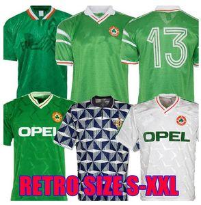 1994 Irlanda retro 90 92 soccers copa del mundo camiseta de Irlanda del hogar caliente clásico de la calidad Sheedy Tailandia 1990 Calcio 1992 de fútbol