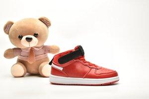 Vendita New Kids Classic High-top di progettazione Court Borough Mid 2 scarpe da basket Nuova Università Nero Rosso Gioco Reale Little Children rosa Sneakers
