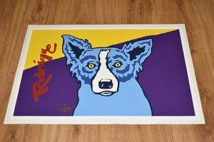 George Blue Dog Rodrigue Museu Edição Decoração pintura a óleo sobre tela Wall Art Canvas Pictures Wall Decor 200909