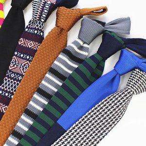JEMYGINS Yeni Moda Erkek Örgü Kravat Marka Skinny İnce Tasarımcı Erkek Örgü Boyun Kravatlar Cravate Skinny Kravat İçin Men daraltmak