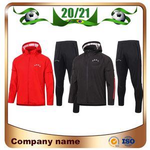 20/21 Bayern giacca con cappello 2020 Bayern COUTINHO LEWANDOWSKI MULLER HERNANDEZ formazione uniforme cappotto di pioggia di calcio giacca dell'uniforme vendite