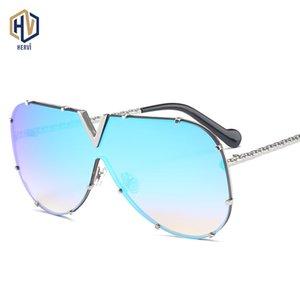 Pads Frauen Sonnenbrille Brille Nase Hemmin Rahmen Textur Spiegel Bein Gel Persönlichkeit Außerhalb Silica Metal Herren Siamese Design Hudbc