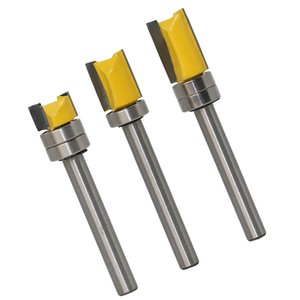 3pcs durable ras de aleación dura Plantilla de embutir Recorte Router Bit fresa de 6 mm Vástago