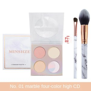 Minshzee Four-color High-gloss Repair Powder Long-lasting Silhouette Powder Skin Brightening