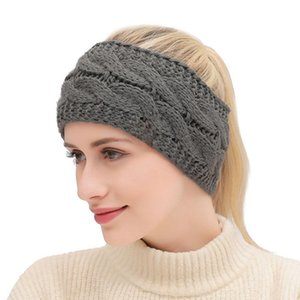 21 cores torção de malha headband Mulheres Desportos de Inverno Ear Warmer Envoltório principal Hairband Hair Fashion Acessórios IIA581
