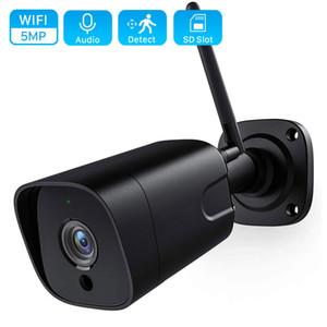 5MP Wi-Fi IP-камера ONVIF 1080P Беспроводные Проводные CCTV Цилиндрическая камера Открытый двухсторонняя аудио ИК 20м P2P TF карта Wi-Fi камера Слот iCsee