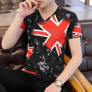 Options Hommes Designer Hauts Vêtements Lettre Floral Fashion Casual Mens été Imprimer T-shirts col en V Divers