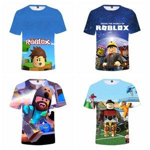 Новые летних Мальчики футболка животные Roblox 3D Печатных девушки футболка Мода Kid Одежда 2-14Y игры животных футболки